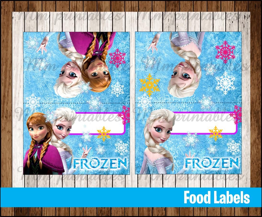 80 Off Sale Frozen Food Tent Cards Instant Download