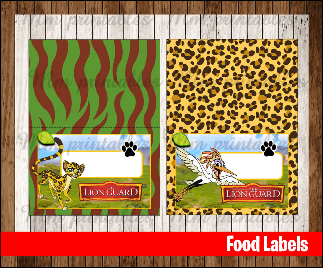 80 off the lion guard food tent cards instant download printable