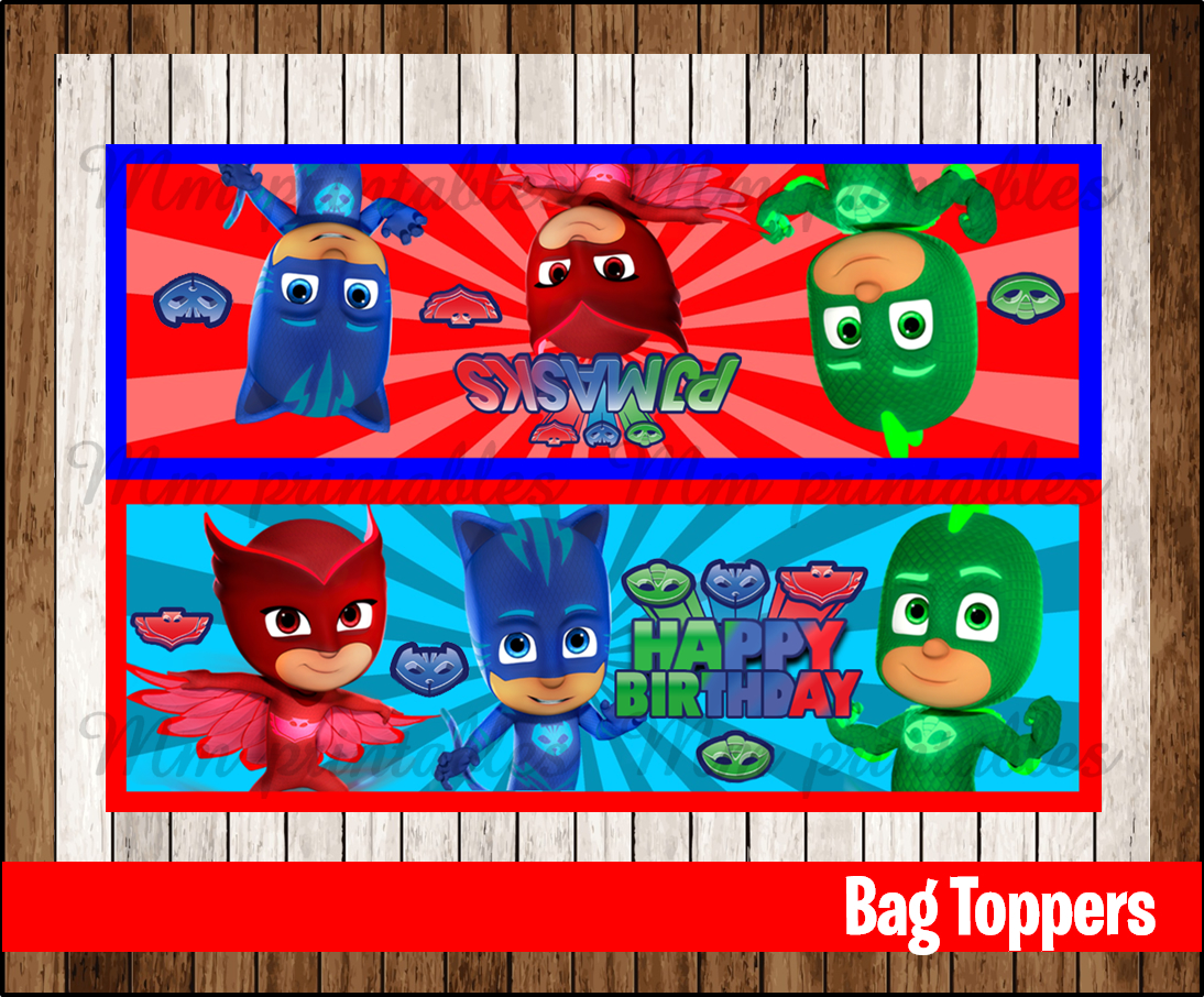 picture regarding Printable Pj Masks identify 80% OFF SALE PJ Masks Get together Toppers instantaneous obtain