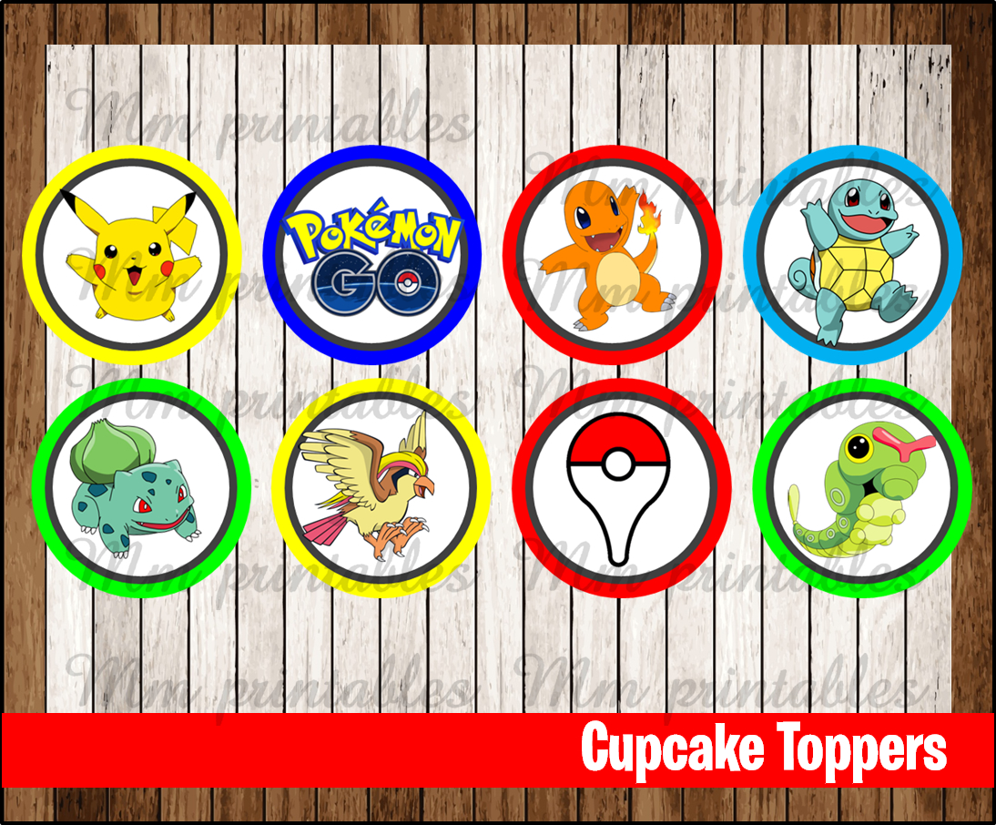 photo regarding Pokemon Cupcake Toppers Printable called 80% OFF SALE Pokemon Transfer social gathering Cupcakes Toppers prompt obtain