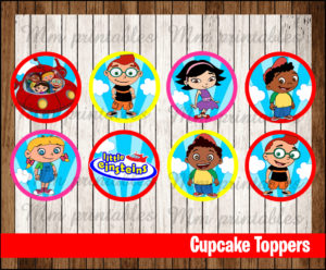 80 Off Sale Little Einsteins Party Toppers Instant Download Printable