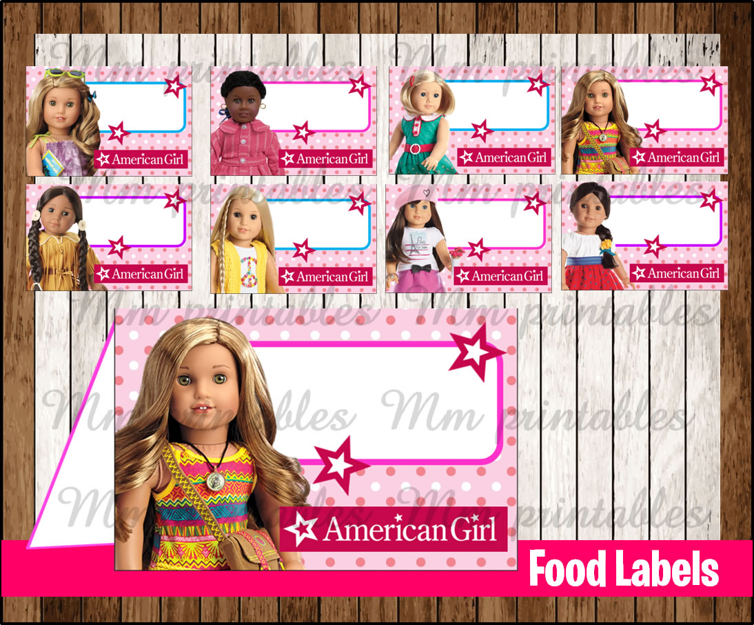 80% OFF SALE American Girl Doll Food Tent Cards instant download  sc 1 st  mmprintable & 80% OFF SALE American Girl Doll Food Tent Cards instant download ...