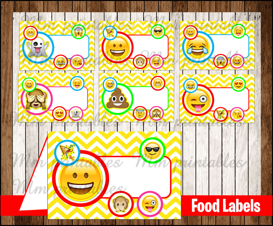 Labels: 80% OFF SALE Emoji Food Tent Cards Instant Download