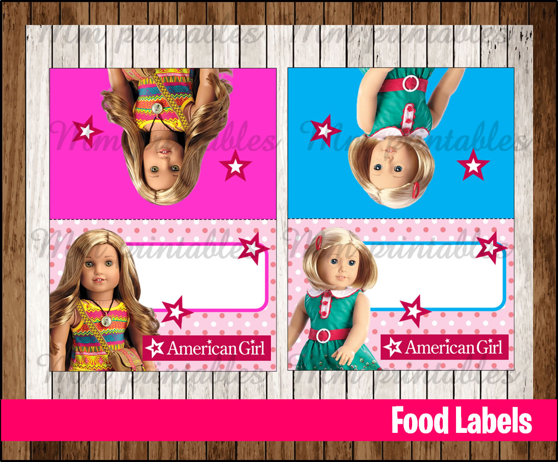 It is a graphic of Astounding American Girl Printables Food