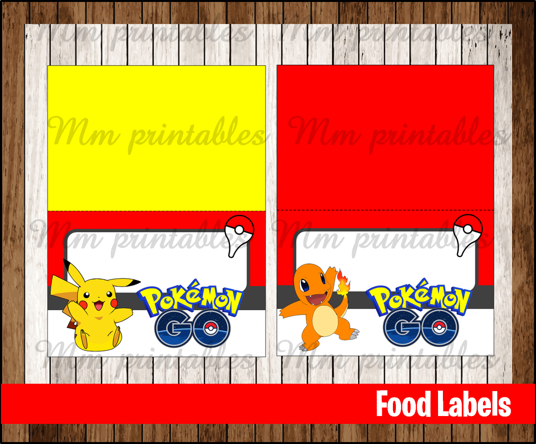 80 Off Sale Pokemon Go Food Tent Cards Instant Download
