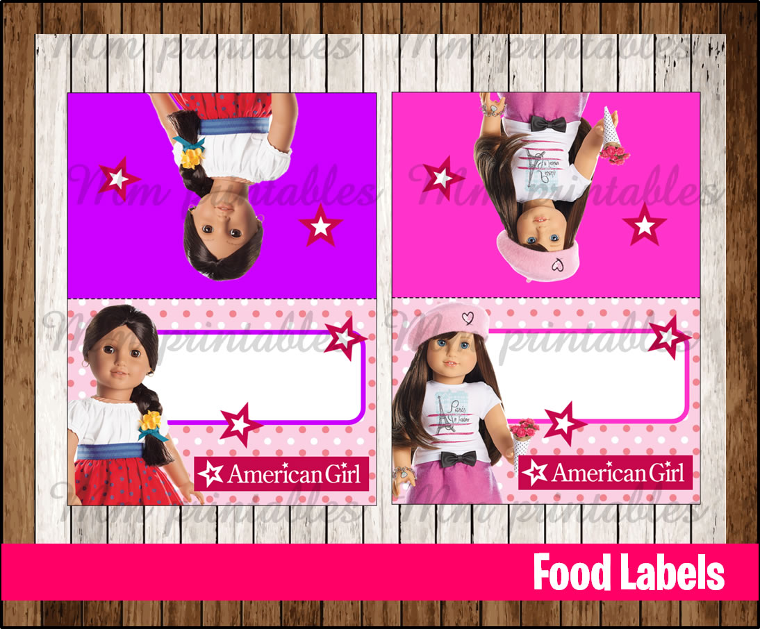 It is a graphic of Irresistible American Girl Printables Food