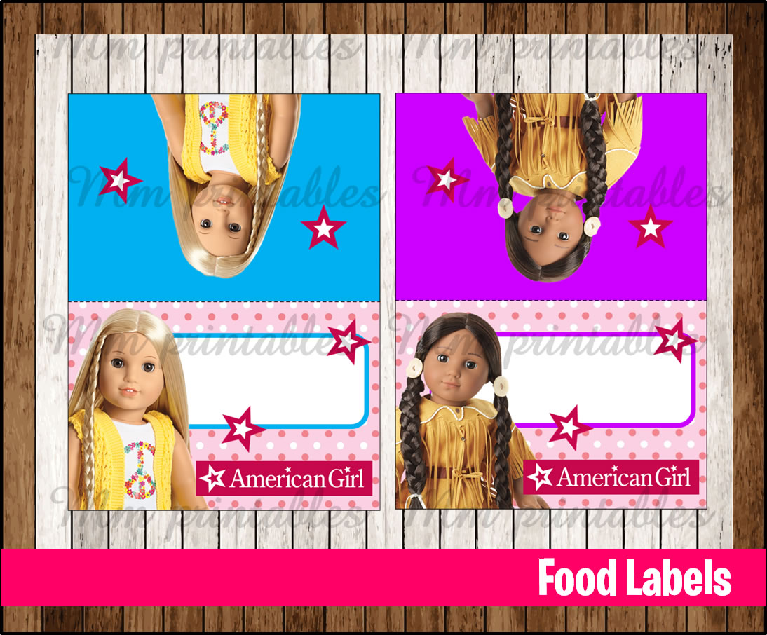 80 Off Sale American Girl Doll Food Tent Cards Instant