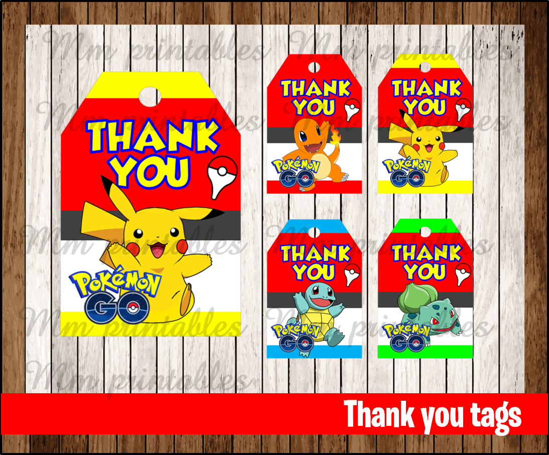 ... tags instant download $ 1 99 pokemon thank you tags instant download