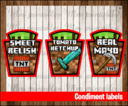 Condiment labels 2