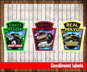 Condiment labels 2