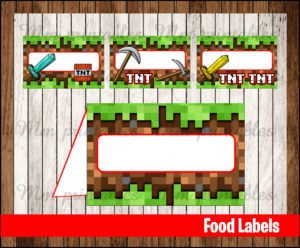 80 OFF SALE Minecraft Food Tent Cards Instant Download
