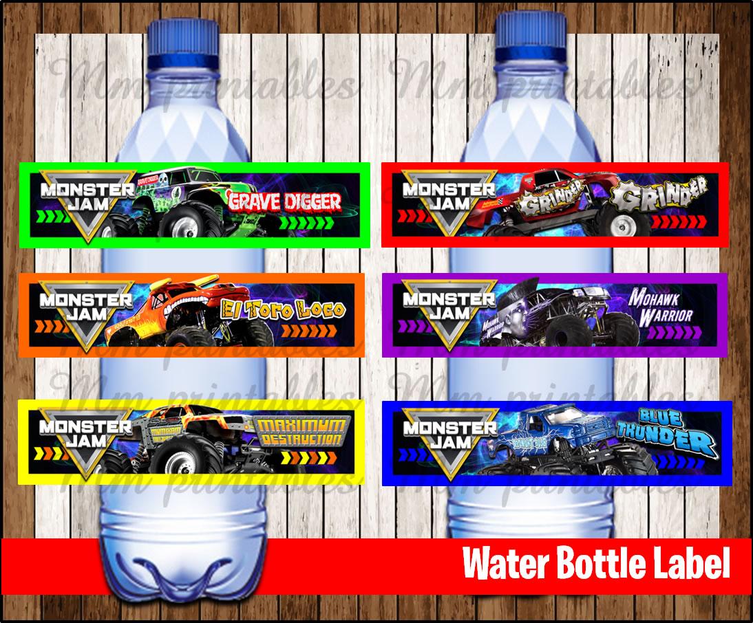 80  off sale monster jam water bottle label instant