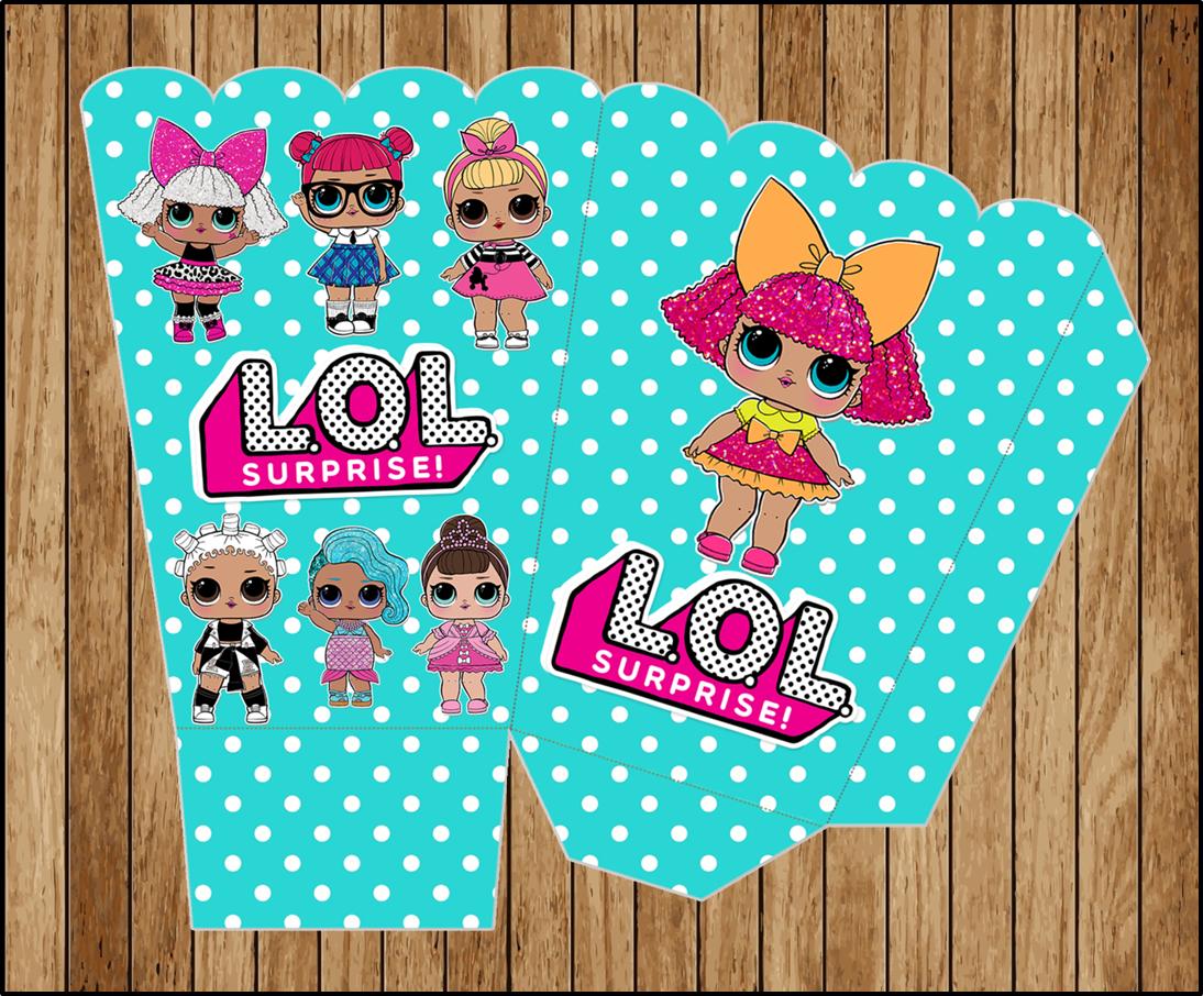 Lol Surprise Dolls Popcorn Box Instant Download Printable Lol