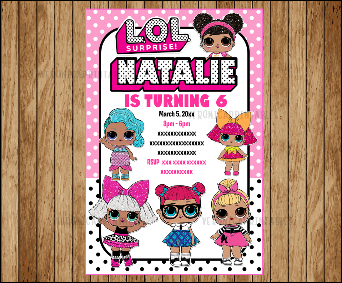 50 Off Lol Surprise Dolls Invitation Lol Surprise Invitations Lol