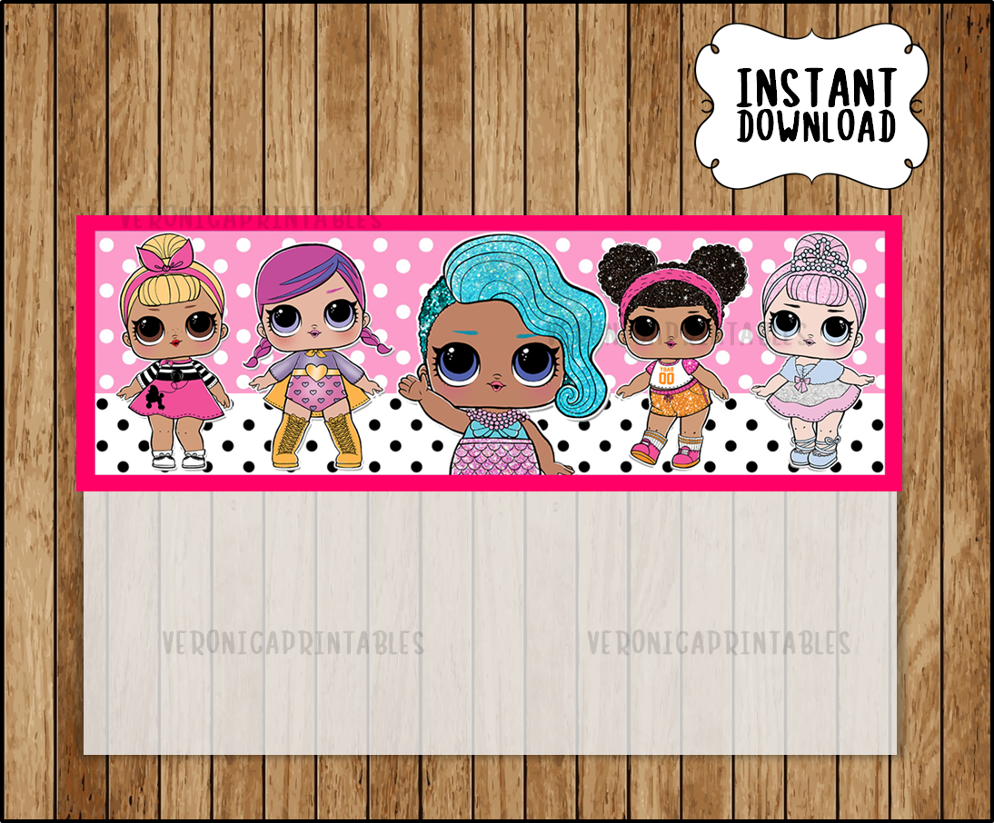 LOL Surprise Dolls Bags Topper, printable LOL Dolls party Bags Topper, LOL  Surprise treat bags toppers
