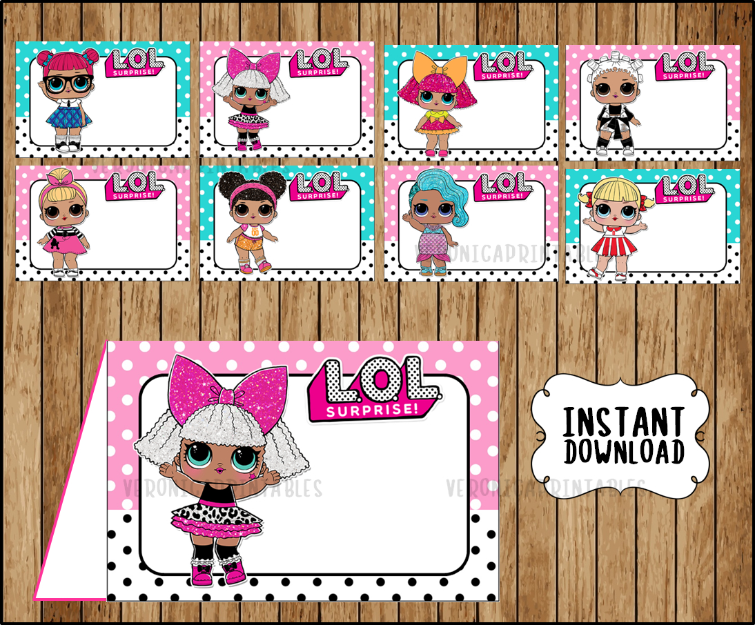 This is a photo of Dynamic Lol Dolls Printable