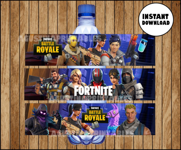 Fortnite Water Bottle Label Printable Fortnite Water