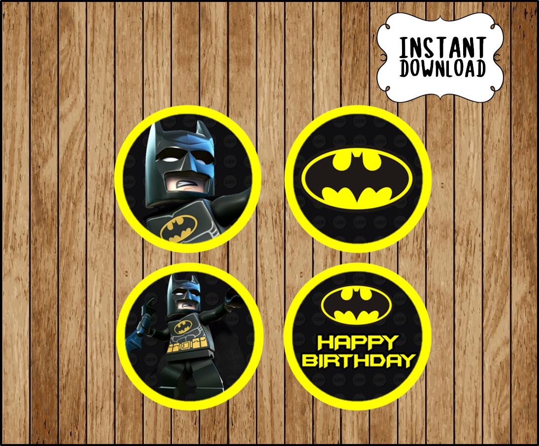 photo regarding Batman Cupcake Toppers Printable titled Printable Lego Batman Cupcakes toppers fast obtain, Lego Batman celebration Toppers, Printable Lego Batman Toppers