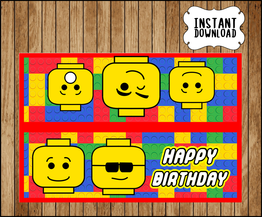 graphic about Printable Bag Toppers named Printable Lego coming up with blocks Bag toppers immediate obtain, Lego designing blocks occasion Luggage, Printable Lego establishing blocks Handle baggage toppers