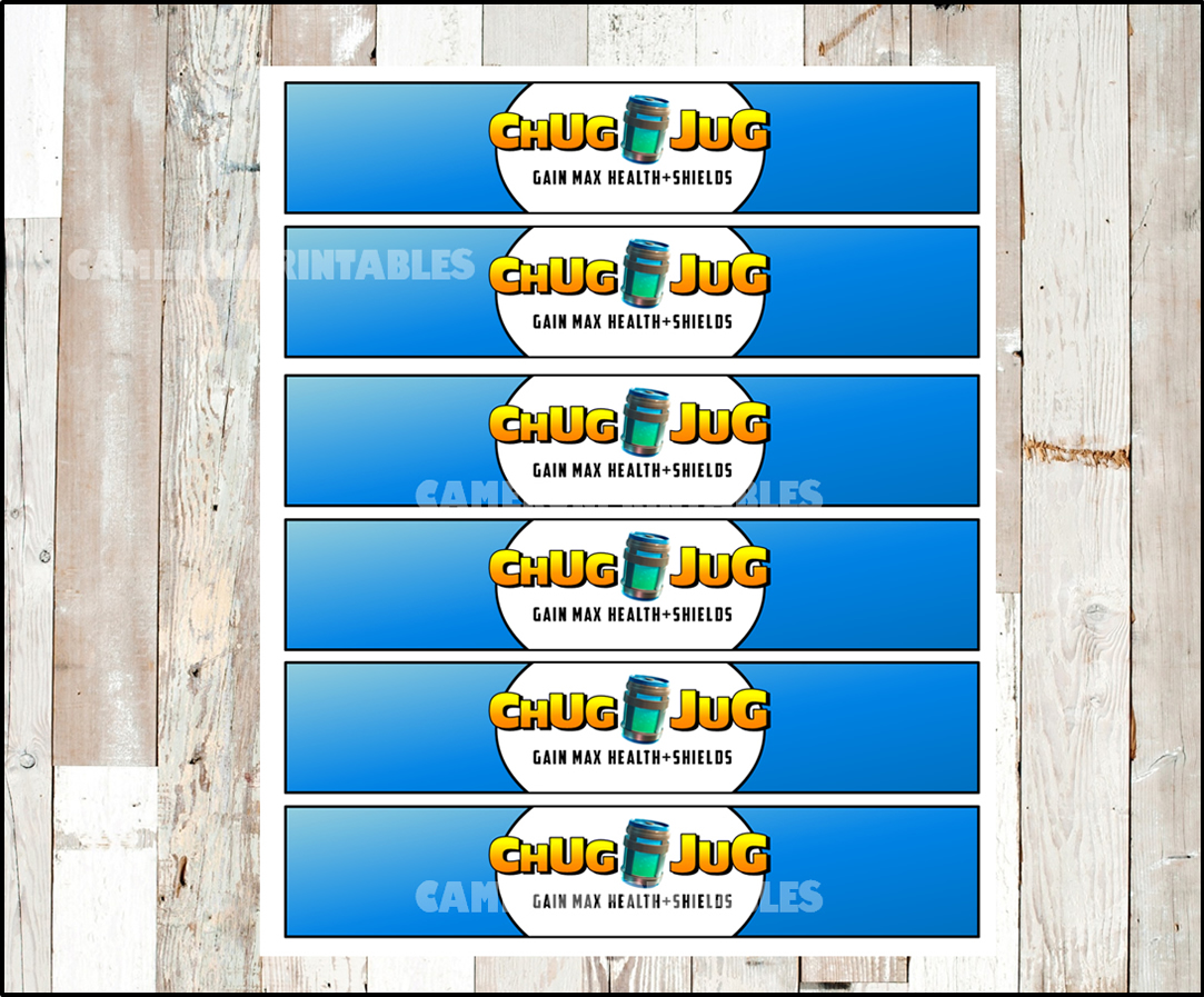 picture relating to Free Fortnite Printable Labels identified as Fortnite birthday social gathering, CHUG JUG, printable bottle wraps, labels, lil hugs wrappers,get together decoration, fortnight birthday Instantaneous down load