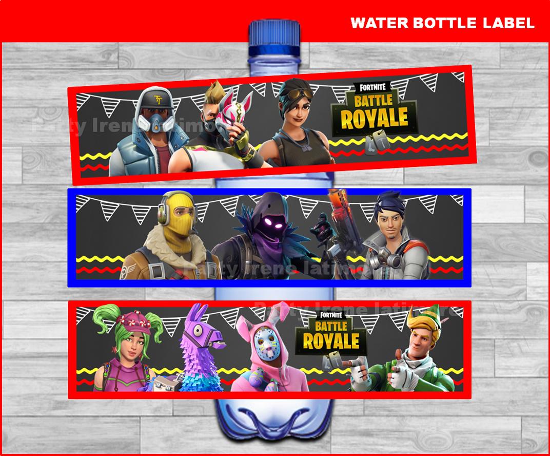 Fortnite Water Bottle Label Printable Fortnite Water Labels