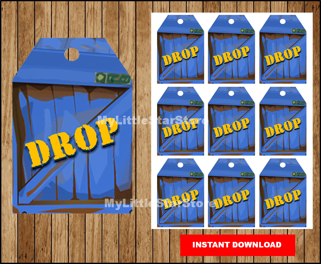 Fortnite tags, Printable Fortnite Drop Tag, Fortnite party tags, Fortnite  Birthday Party, fortnight gift tag Instant download